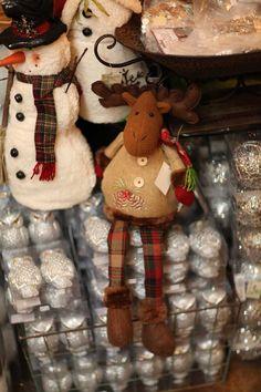 stuffed Christmas moose  Like us on Facebook, too!  https://www.facebook.com/EvergreenAtTheLake/app_161683100556760