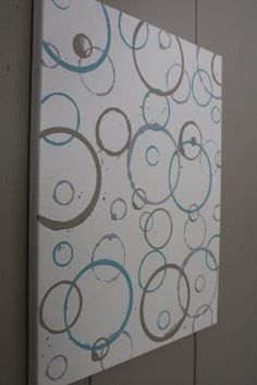 canvas art chaulk painting diy | from my bedroom to make random circles on the canvases