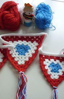 KnoopjesZ haken: Koningsdag Rood-Wit-Blauw