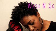 Natural Hair| Wash n Go w/EcoStyler Gel #taperedcut
