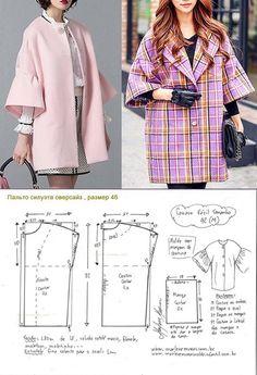 - Tesettür Mont Modelleri 2020 - Tesettür Modelleri ve Modası 2019 ve 2020 Coat Pattern Sewing, Sewing Coat, Coat Patterns, Dress Sewing Patterns, Jacket Pattern, Sewing Patterns Free, Sewing Clothes, Clothing Patterns, Diy Clothes