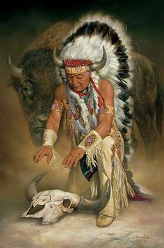 """Native Americans Indians """"In Honor"""" Original Painting by Docken"""
