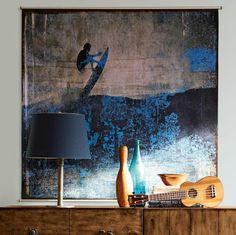 déco murale pour chambre d'ado avec surf