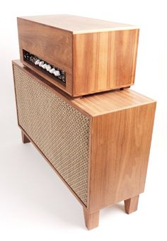 "Guitar Amp  1959 Fender Bassman clone circuit with two 12"" speakers 50 watts  Made from all reclaimed/recycled wood"