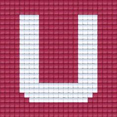 X Letter U | Pixel Party