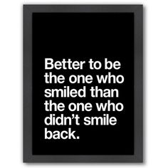 Americanflat ''Better to Smile'' Framed Wall Art () ($69) ❤ liked on Polyvore featuring home, home decor, wall art, quotes, words, text, backgrounds, fillers, phrase and circular