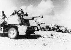 You can see that the sucess of the improvised 75 mounted on a truck led to a small production of armored trucks carrying the guns on special turret. Here are depicted the men of the 1st Régiment de marche de spahis marocains (FFL), a colonial infantry unit at El Alamein, october 1942. Pin by Paolo Marzioli