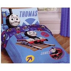THOMAS TRAIN Tank Comforter Sheets - RR Railroad Crossing TODDLER BEDDING SET (00032281255251) For toddler & crib beds: comforter (blanket/quilt), flat sheet, fitted sheet, pillowcase. ... CONTENTS: One toddler comforter 42 x 58 inches (107 x 147 cm); One toddler bed sheet 45 x 70 inches (114 x 178 cm) and; One toddler fitted sheet. Both of the above fit a standard crib/toddler mattress of 28 x 52 inches.; One standard 20 x 30 inches (51 x 76 cm) pillowcase to fit 20 x 26 inches (51 x 66 cm)…
