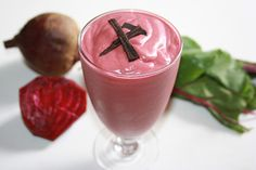Red Velvet Smoothie Recipe : 1/4 – 1/2 beet (beetroot) + 1/2 avocado + 1 Tbsp. cacao powder + 1 tsp. chia seeds + 1/2 cup/125 ml. coconut milk or nut milk + 1 cup/250 ml.water or coconut water + 1 handful of ice; (click for directions). 2 tsp. of maple syrup or pure honey dash of cinnamon (optional)