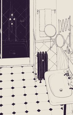 Hello amazing drawing of amazing interior.. all I want for christmas is a radiator.. x