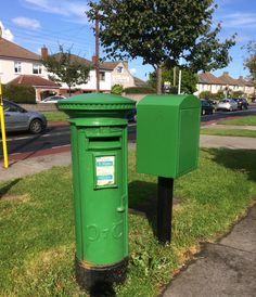 Irish post box on Barton road Dundrum Dublin