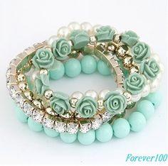 cute turquoise resin bracelet, handmade Statement Bubble bracelet,bridesmaid gifts,unique bracelet via Etsy