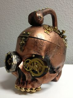 Steampunk Skull Purse by PoisonedStudios on Etsy, $500.00 i have to have this