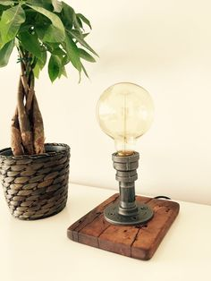Industrial/Modern/Rustic/ Table Lamp/ Desk Lamp  by MadeByTommy