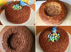 DIY Delicious Easter Bird Nest Cake - Find Fun Art Projects to Do at Home and Arts and Crafts Ideas