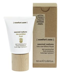 #ComfortZone Sacred Nature Fluid, light hydrating fluid. A non-comedogenic cream with a hydrating and protective action, formulated with natural and organic active ingredients. With a blend of mica and clay powders, buriti oil, orange distilled water & butterfly bush extract.