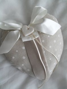 Wedding Ring Pillow  Heart shaped with Bow Velvet by RubiesandGold, £18.00