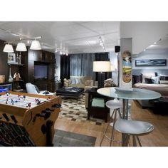 Teen hangout/guest bedroom in the basement