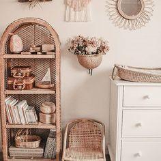 Interior Design For Living Room Key: 4527026933 Baby Bedroom, Nursery Room, Kids Bedroom, Nursery Decor, Room Decor, Wicker Shelf, Reno, Nursery Neutral, Nursery Inspiration