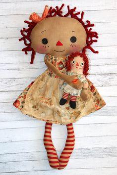 Annie Collector Raggedy Ann Doll Set - Primitive Raggedy Ann Doll (HAFAIR)