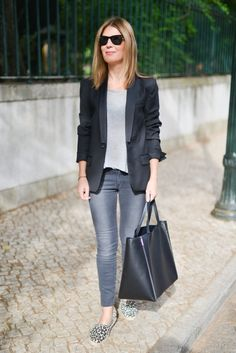 Minimal + Classic: Jacket by Zadig et Voltaire Tee-Shirt by Margaux Lonnberg Jeans by Vanessa Bruno Shoes by L'Espadrille Tropezienne Bag by Celine