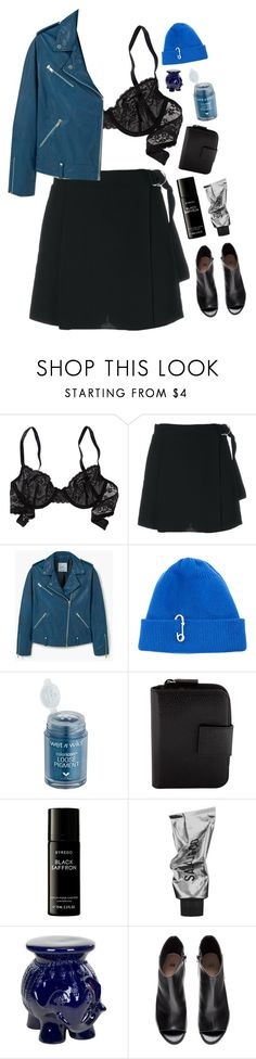 """Blue Navy"" by mode-222 ❤ liked on Polyvore featuring Aerie, Carven, MANGO, TIBI, Prada, Liberty, Safavieh and H&M"
