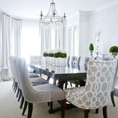 Gray Dining Room Furniture I Love This Dining Roomnothing Beats A Round Table And .