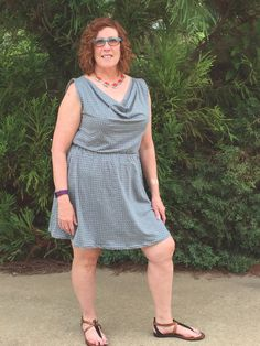 Colette Myrtle dress made with Art gallery knit fabric. Very easy to sew and comfortable to wear.