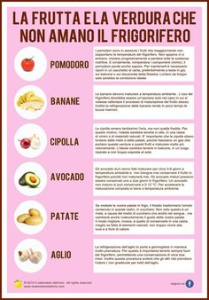 La frutta e la verdura che non amano il frigorifero