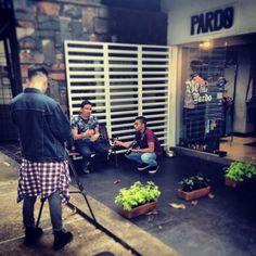 Haciendo parte del documental acerca del diseño independiente y vestuario en Medellín. Be like Pardo! (at Pardo)
