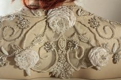 Each handmade coverups feature the dainty work of fabric art embellished with whimsical crystal and pearls. * A design is made such that it works as a nice wrap, or bolero Wedding Gown Cover Up, Wedding Shrug, Bridal Cover Up, Bridal Bolero, Wedding Dresses Photos, Wedding Gowns, Shrugs And Boleros, Wedding Wraps, Wedding Ideas