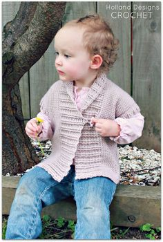 Download Now - CROCHET PATTERN Shawl Collared Cardigan - Sizes 0-12 years - Pattern PDF