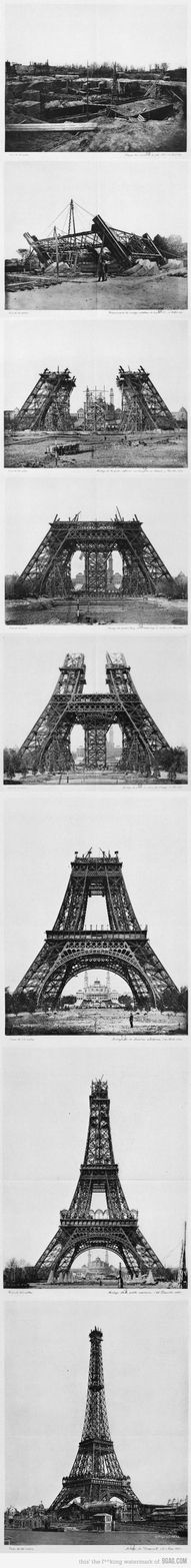 The consruction of the Eiffel Tower between 1887-1889 for the Universal Exposition. Design Engineer: Gustave Eiffel. Height: 324 meters Weight: 10,000 tons. Tallest structure in the world from 1889 - 1930 . S)