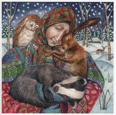 In the Arms of Grace, by Wendy Andrew  http://www.moondragoncards.com/store/section.php/18/va/yule_winter_solstice