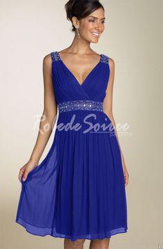 Robe soiree bleue electrique