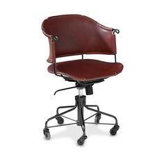 desk chair SHERIFF, brown leather
