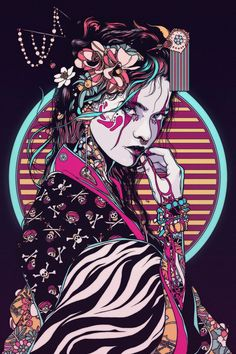 Geisha - 2017 on behance arrrt&design в 2019 г. art samouraï, fond d&ap Art Inspo, Inspiration Art, Creative Inspiration, Art Geisha, Geisha Drawing, Art Sketches, Art Drawings, Art Cyberpunk, Art Du Croquis