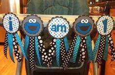 Sesame Street Cookie Monster I am 1 by TheWonderlandCottage, $20.00