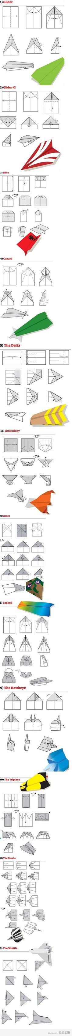 Avioncitos de papel. Muy buenos modelos como para competir en una carrera! (UADE)