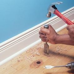 Patch a Hardwood Floor- great handyman site.  Lots of how-to videos