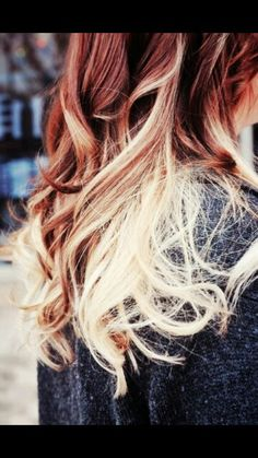 Auburn and blonde ombre will look cool!