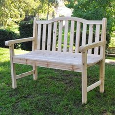 Shine Company 36-in L Natural Wood Patio Bench