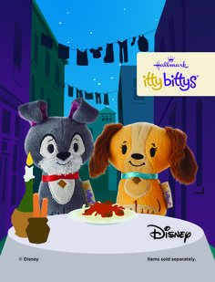 True romance is always a classic, like these Lady and the Tramp itty bittys.