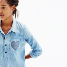 Madewell chambray little love popover shirt #giftwell