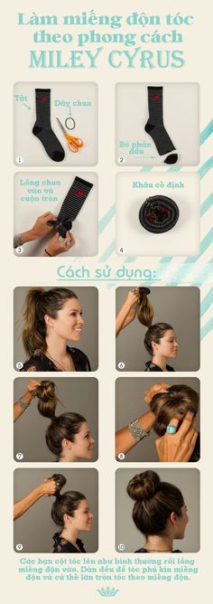 Mẹo làm chun búi tóc đáng yêu như Miley Cyrus 1