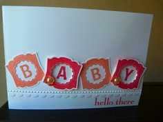 Babycard with Label Love from Stampin Up