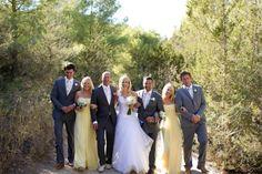 Bride & Groom with bridemaids & ushers