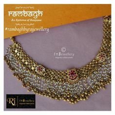 With the pride we are launching our very new and Raajasee collection - RAMBAGH - An Epitome of Raajasee Gold Jewellery Design, Gold Jewelry, Beaded Jewelry, Handmade Jewelry, Gold Bangles, Jewelery, Antique Necklace, Gold Necklace, Long Pearl Necklaces