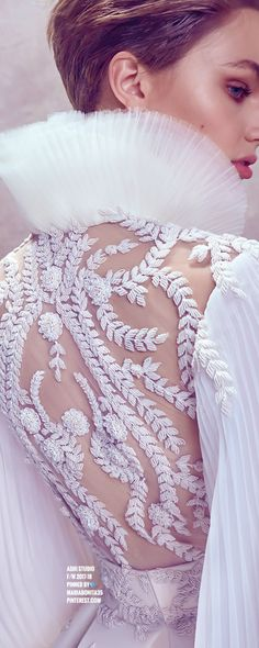 super Ideas for fashion design studio couture Couture Details, Fashion Details, White Fashion, Trendy Fashion, Ashi Studio, Fashion Design Template, White Aesthetic, Party Fashion, Beautiful Gowns
