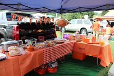 Clemson Tablescape! Add touches of burlap, real table clothes and silver to your southern tailgate! #clemson